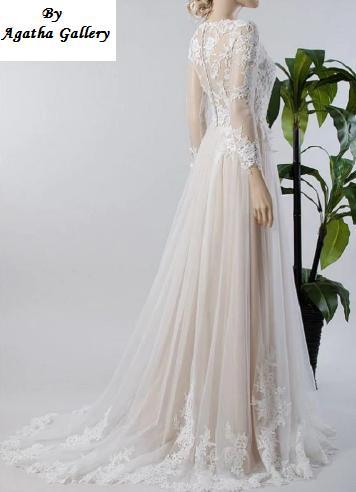 Dlhé svadobné šaty - 12 veľkostí, 15 farieb - Obrázok č. 3