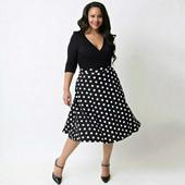 Krátke spoločenské šaty pre moletky aj tehotné Dot, XXL