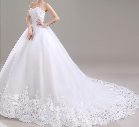 Dlhé svadobné šaty - 7 veľkostí, 2 varianty - Obrázok č. 1