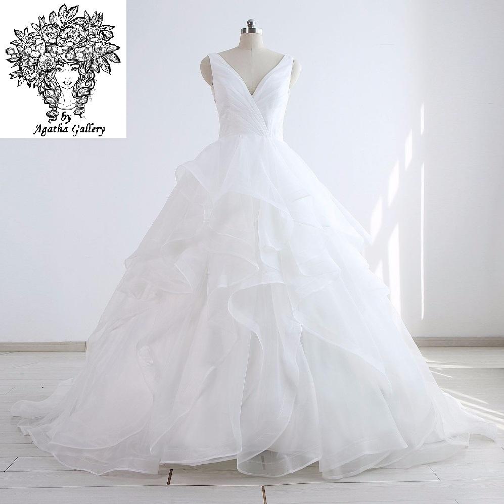 Dlhé svadobné šaty - 12 veľkostí, 16 farieb - Obrázok č. 1