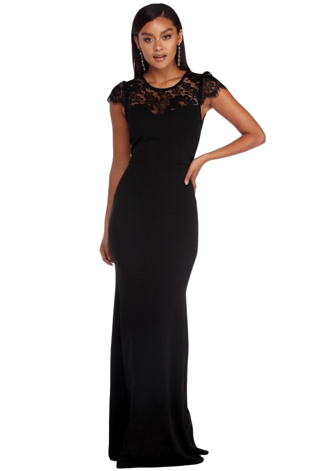 Dlhé čierne spoločenské šaty - EU 36/38 - Obrázok č. 2