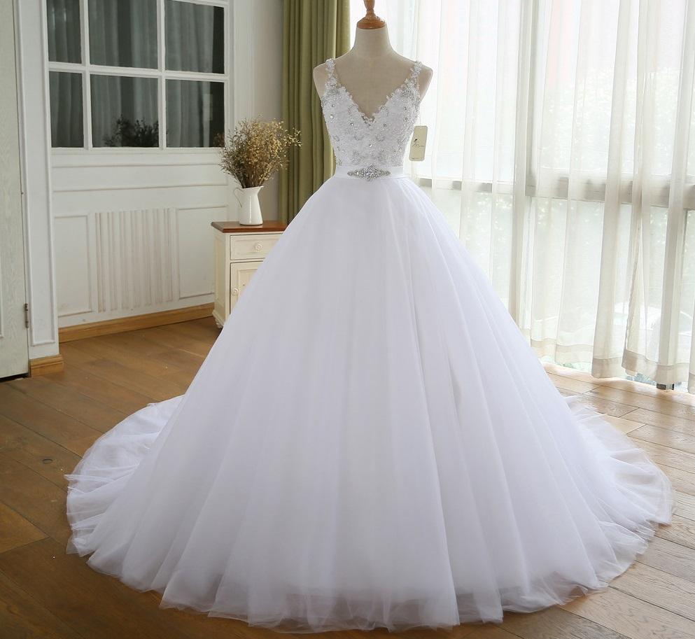 Dlhé svadobné šaty - 8 veľkostí, 3 farby - Obrázok č. 1