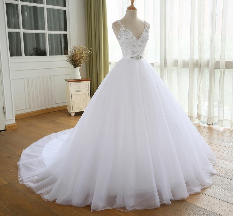 Dlhé svadobné šaty - 8 veľkostí, 3 farby - Obrázok č. 2