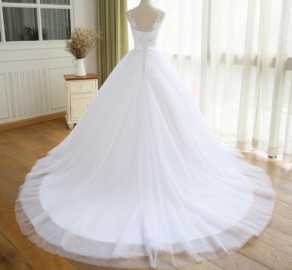 Dlhé svadobné šaty - 8 veľkostí, 3 farby - Obrázok č. 3