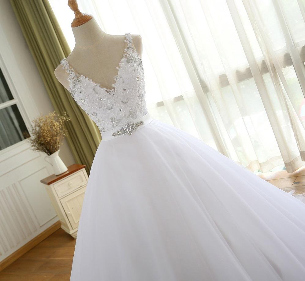 Dlhé svadobné šaty - 8 veľkostí, 3 farby - Obrázok č. 4