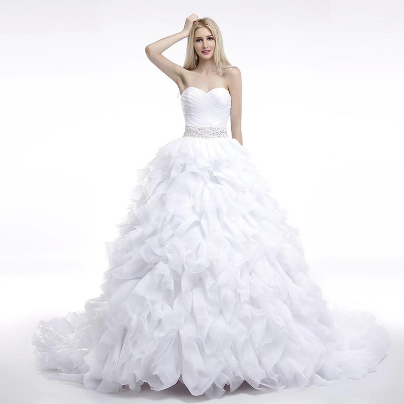 Dlhé svadobné šaty - 16 veľkostí, 7 farieb - Obrázok č. 1