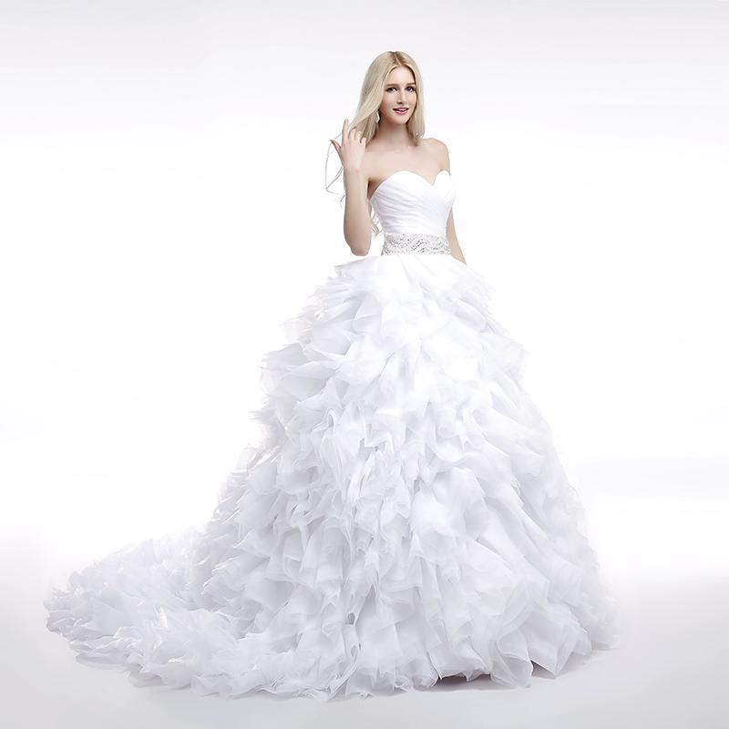 Dlhé svadobné šaty - 16 veľkostí, 7 farieb - Obrázok č. 2