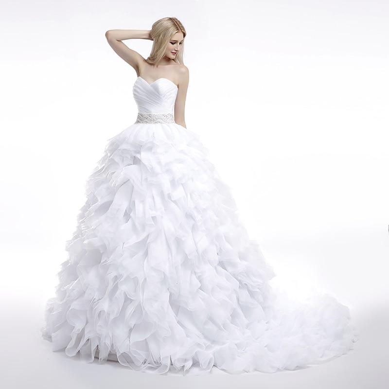 Dlhé svadobné šaty - 16 veľkostí, 7 farieb - Obrázok č. 3