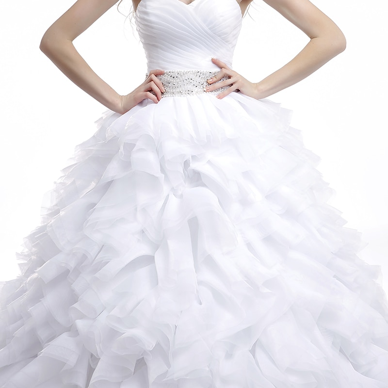 Dlhé svadobné šaty - 16 veľkostí, 7 farieb - Obrázok č. 4
