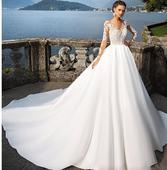 Dlhé svadobné šaty - 14 veľkostí, 2 farby, 38