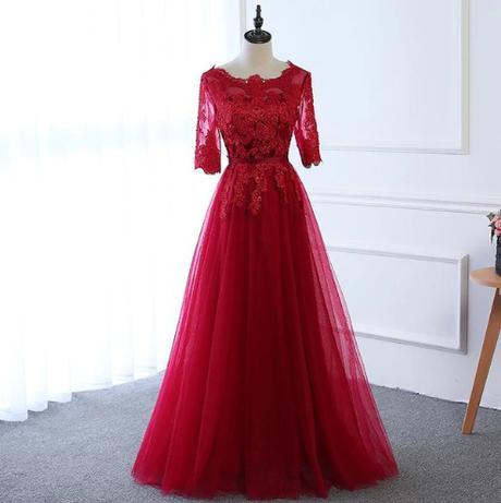 Kvalitné spoločenské šaty - 3 farby,15 veľkostí - Obrázok č. 2