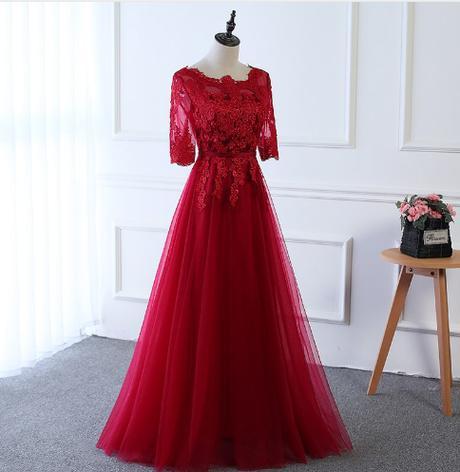 Kvalitné spoločenské šaty - 3 farby,15 veľkostí - Obrázok č. 3