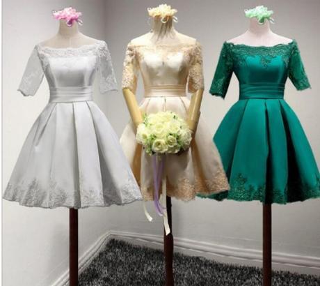 Krátke svadobné/popolnoč. šaty-10 veľk., 10 farieb - Obrázok č. 1