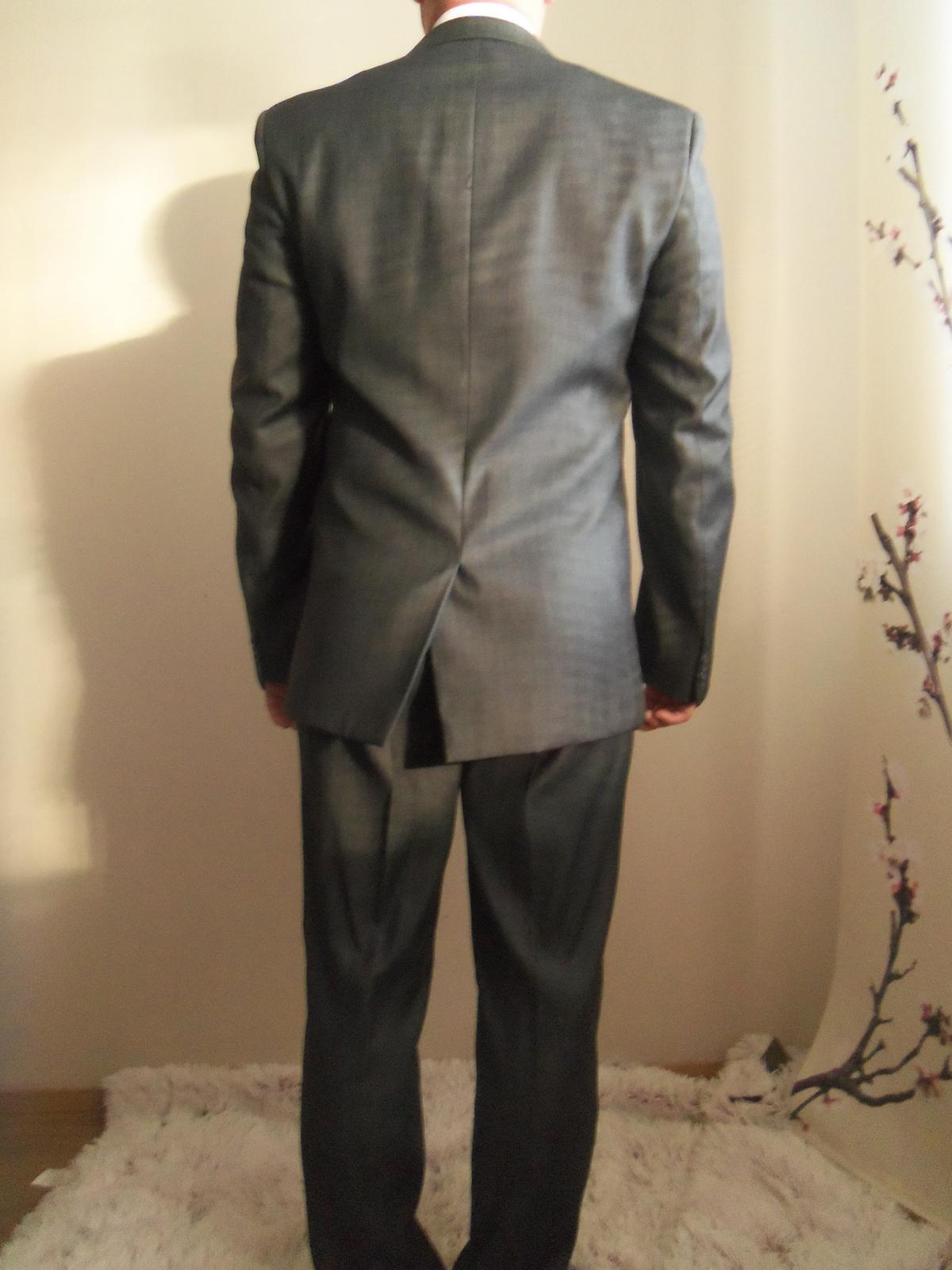 Pánsky oblek-svadobný aj bežné nosenie 182/96/82 - Obrázok č. 2