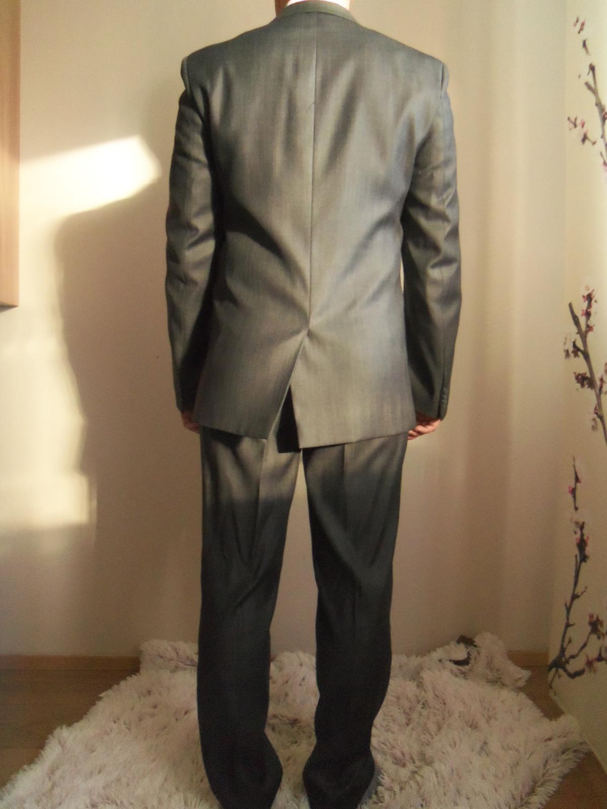 Pánsky oblek-svadobný aj bežné nosenie 182/96/82 - Obrázok č. 3