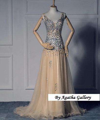 Kvalitné dlhé spoločenské šaty - 6 veľkostí - Obrázok č. 4