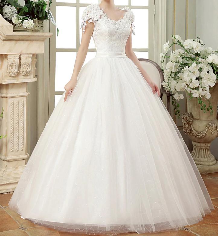 Dlhé svadobné šaty k dispozícii ihneď EU 42-46 - Obrázok č. 1
