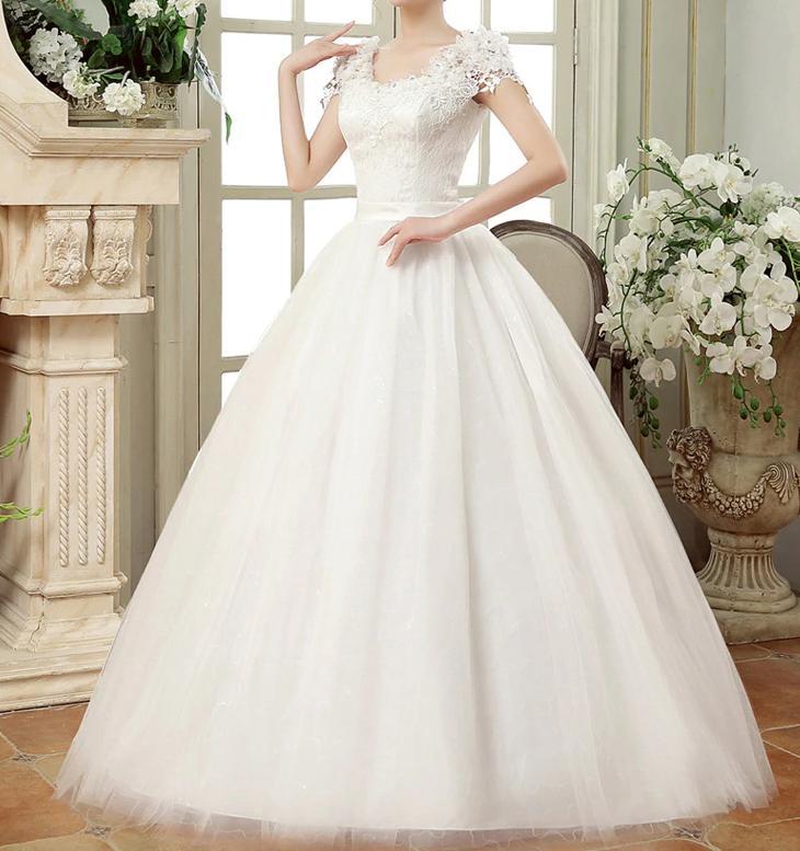 Dlhé svadobné šaty k dispozícii ihneď EU 42-46 - Obrázok č. 2