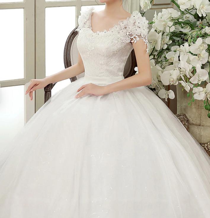 Dlhé svadobné šaty k dispozícii ihneď EU 42-46 - Obrázok č. 3