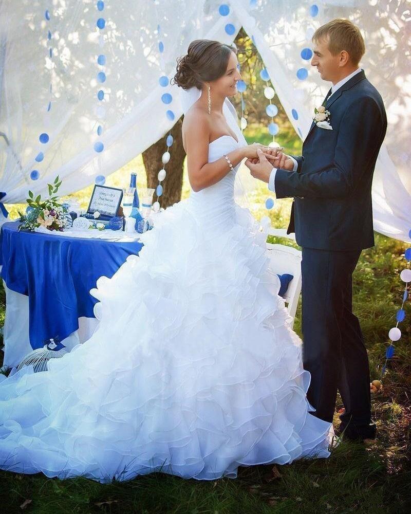 Svadobné šaty s vypínateľnou vlečkou, veľ. 36-40 - Obrázok č. 1