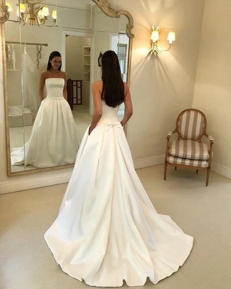 Dlhé svadobné šaty - 15 veľkostí, 2 farby - Obrázok č. 2