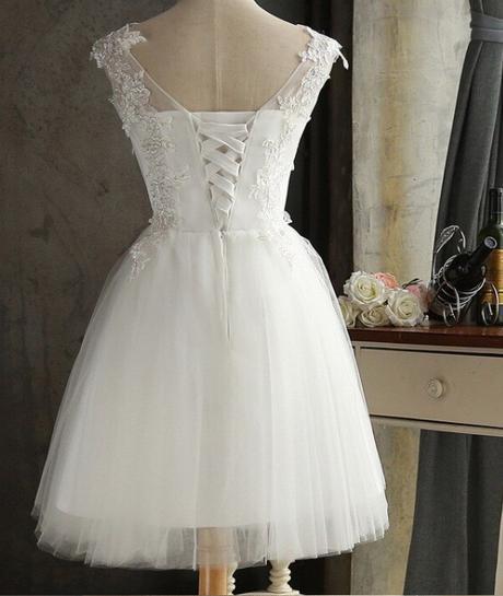Krátke svadobné / po polnočné šaty - 6 veľkostí - Obrázok č. 3