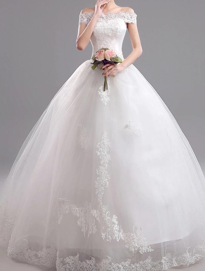 Dlhé svadobné šaty - 11 veľkostí - Obrázok č. 2
