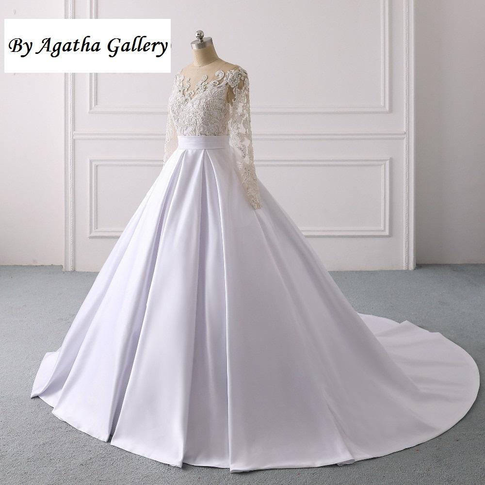 Ručne vyšívané kvalitné svadobné šaty -13 veľkostí - Obrázok č. 2
