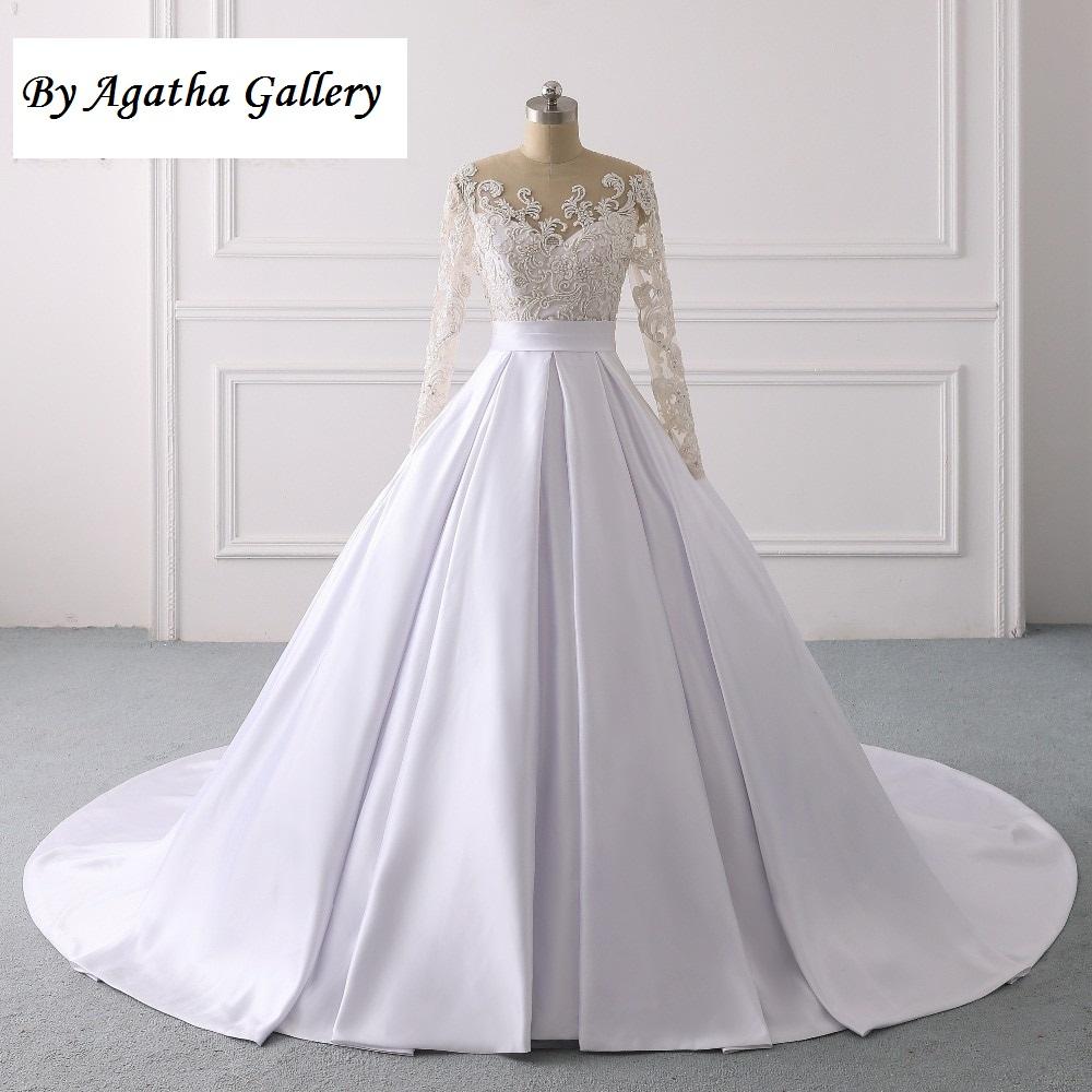 Ručne vyšívané kvalitné svadobné šaty -13 veľkostí - Obrázok č. 1