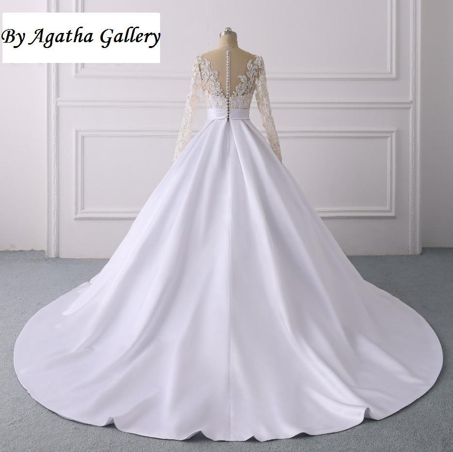 Ručne vyšívané kvalitné svadobné šaty -13 veľkostí - Obrázok č. 3