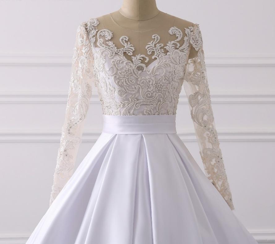 Ručne vyšívané kvalitné svadobné šaty -13 veľkostí - Obrázok č. 4