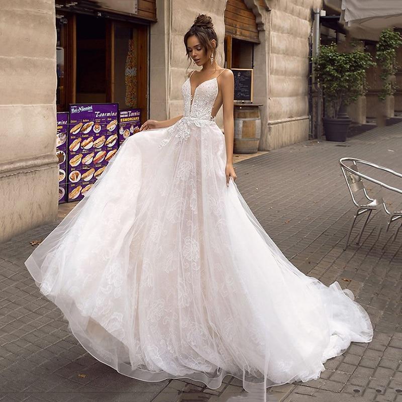 Dlhé svadobné šaty - 13 veľkostí, rôzne farby - Obrázok č. 1