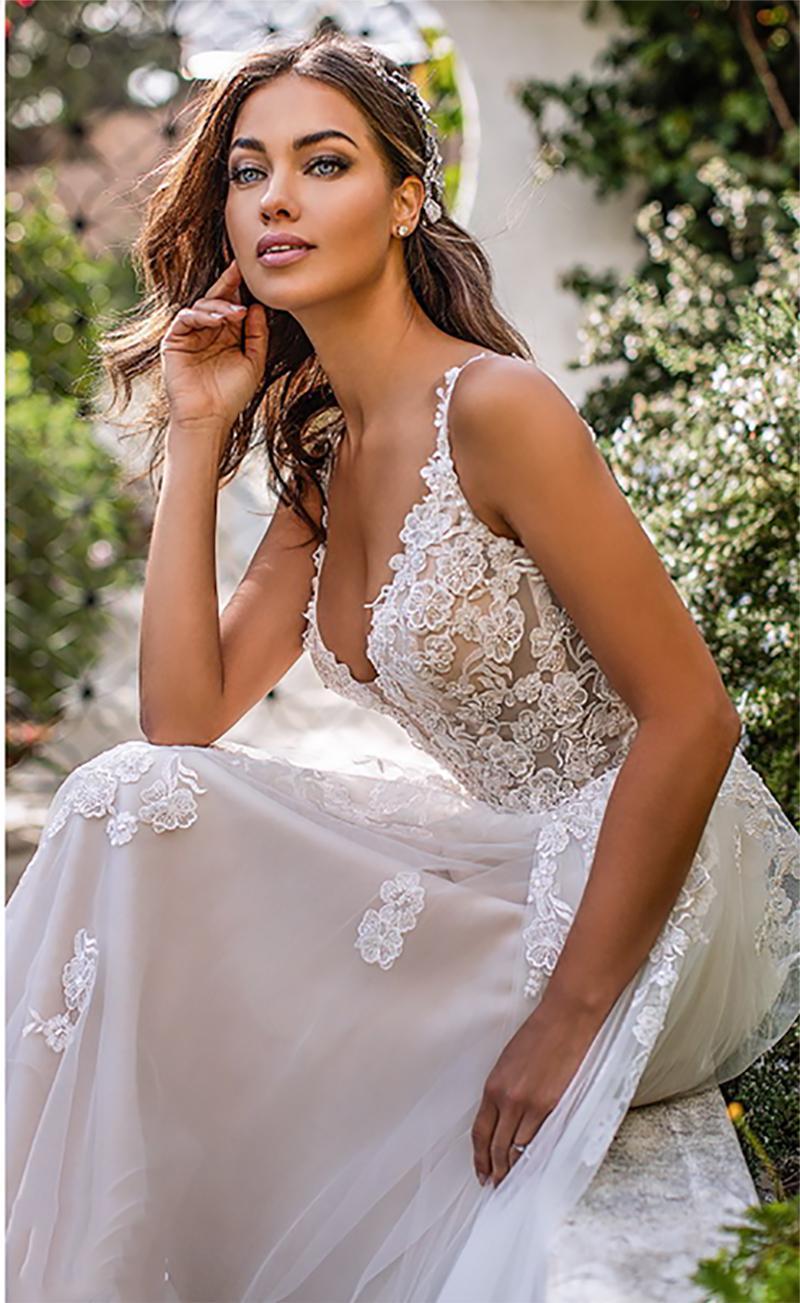 Dlhé svadobné šaty - 13 veľkostí, rôzne farby - Obrázok č. 2