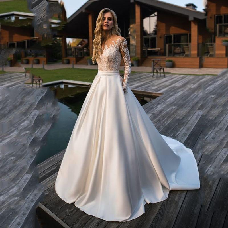 Dlhé svadobné šaty - 14 veľkostí, rôzne farby - Obrázok č. 2