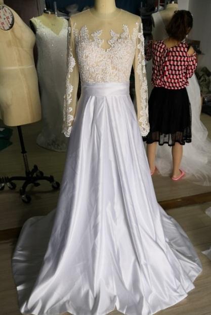 Dlhé svadobné šaty - 14 veľkostí, rôzne farby - Obrázok č. 3