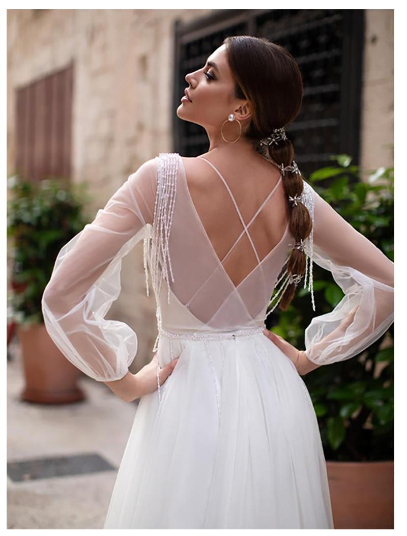 Dlhé svadobné šaty - 13 veľkostí, rôzne farby - Obrázok č. 3
