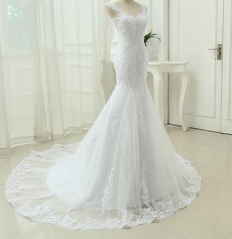 Výpredaj skladových zásob - svadobné šaty -EU38-42 - Obrázok č. 3
