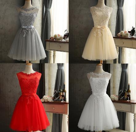 Krátke svadobné / po polnočné šaty - 4 farby - Obrázok č. 1