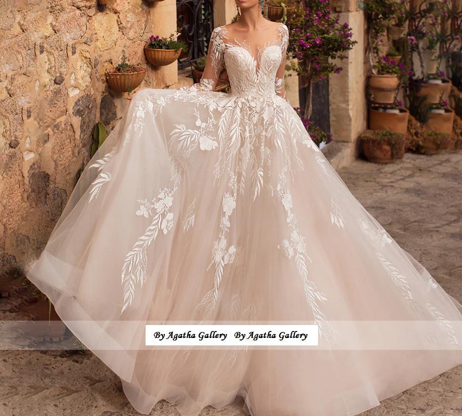 Dlhé svadobné šaty - 14veľ. - rôzne farby - Obrázok č. 1