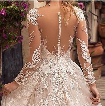 Dlhé svadobné šaty - 14veľ. - rôzne farby - Obrázok č. 4