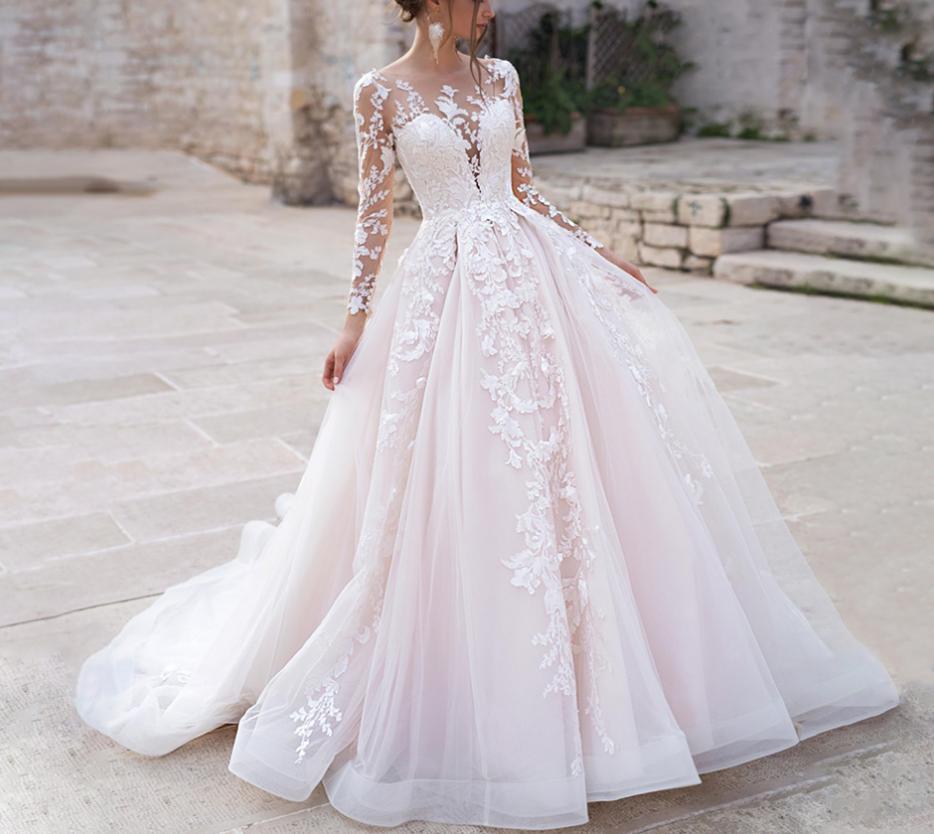 Dlhé svadobné šaty - 14 veľkostí, rôzne farby - Obrázok č. 1
