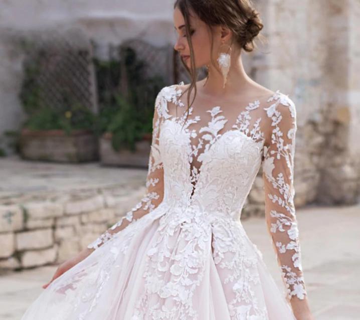 Dlhé svadobné šaty - 14 veľkostí, rôzne farby - Obrázok č. 4