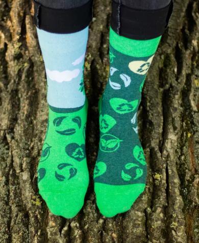 Veselé ponožky EKO zasaď strom - 43-46  - Obrázok č. 1