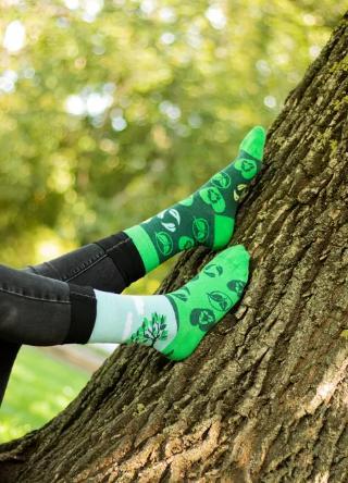 Veselé ponožky EKO zasaď strom - 43-46  - Obrázok č. 3