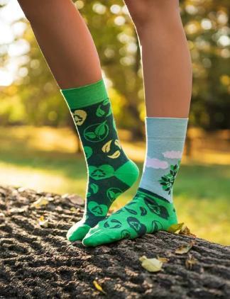 Veselé ponožky EKO zasaď strom - 43-46  - Obrázok č. 4