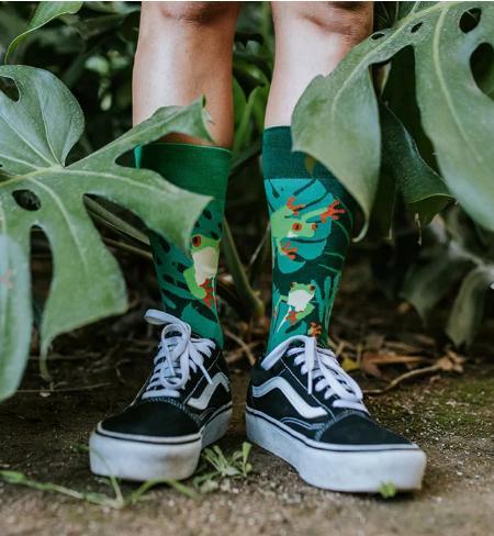 Veselé ponožky Žaby - 43-46  - Obrázok č. 1