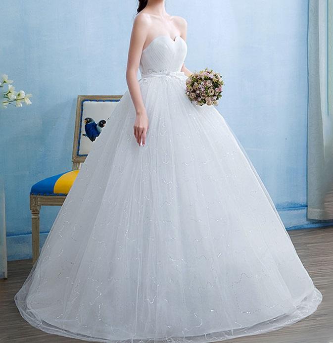 Tehotenské svadobné šaty - 12 veľkostí - Obrázok č. 1