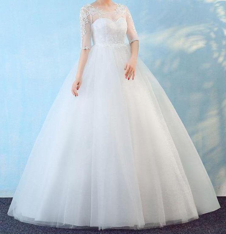 Tehotenské svadobné šaty - 13 veľkostí - Obrázok č. 1