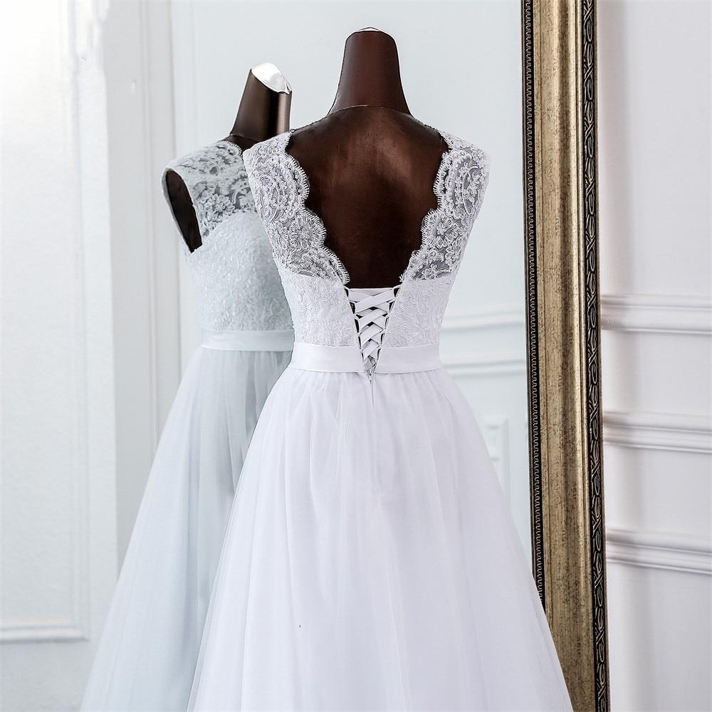 Svadobné šaty - EU 38/40 - skladom - Obrázok č. 4