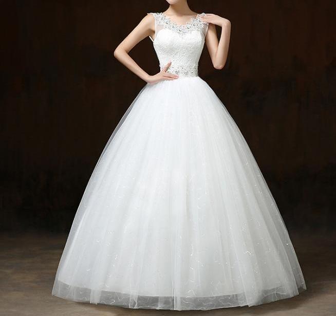 Svadobné šaty skladom - EU48/50 - Obrázok č. 1